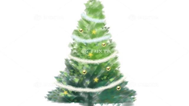 CLIP STUDIO PAINT PRO、クリスマスツリー