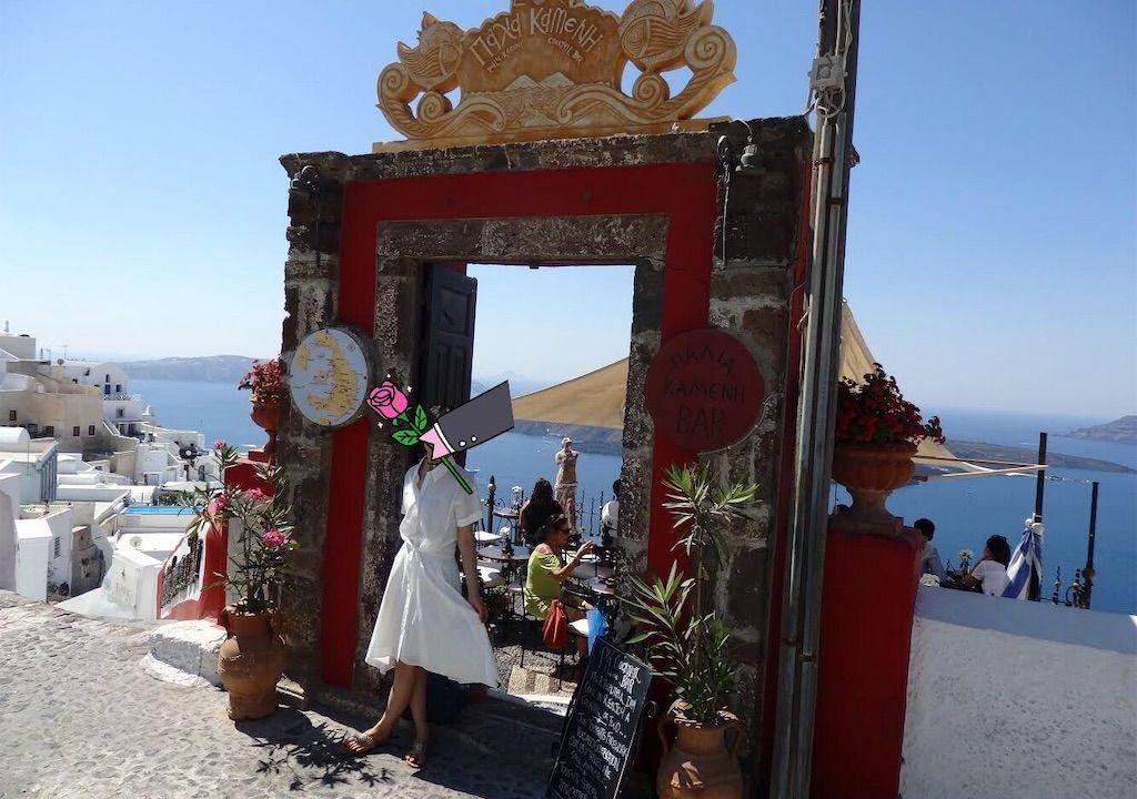 旅行靴、サンダル、ギリシャサントリーニ島