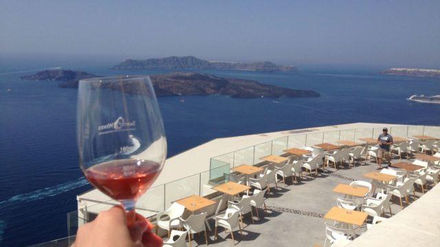 ギリシャサントリーニ島、ワイナリー、サントワインSanto Wines