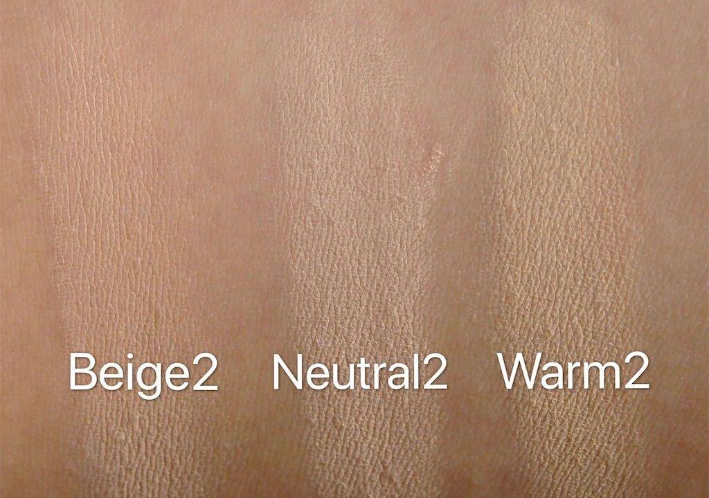 アリマピュア(Alima Pure)、サテンマットファンデーション(Satin Matte Foundation)、ウォーム2(Warm2)、ニュートラル2(Neutral2)、ベージュ2(Beige2)