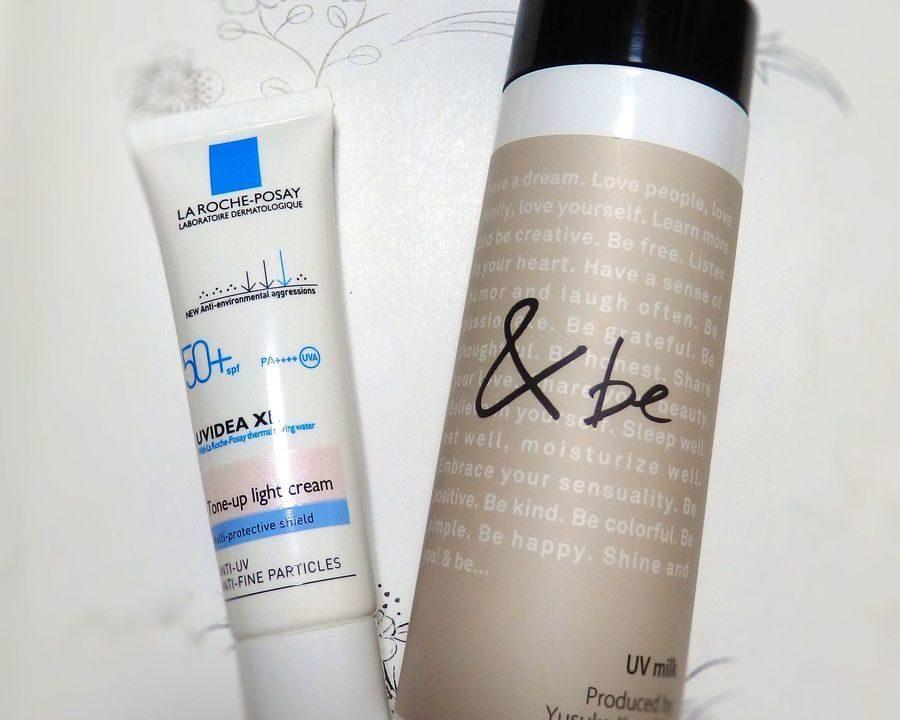 「アンドビー(&be)UVミルク(色なしスタンダード)」「ラ ロッシュ ポゼ(La Roche-posay)UVイデア XL プロテクショントーンアップ(色なしホワイト)」