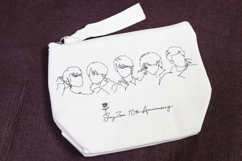 「Sexy Zone Anniversary Tour 2021 SZ10TH」ツアーグッズ「ポーチ」線画イラスト