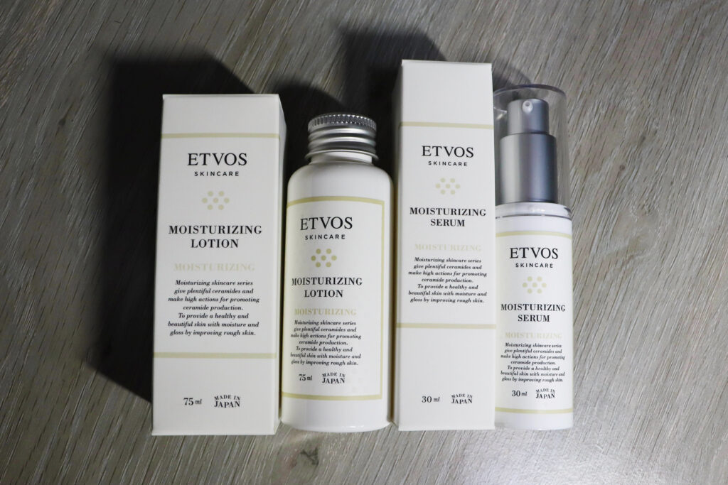 エトヴォス(ETVOS)の体験セット「うるおす2stepセラミド保湿ケア」モイスチャライジングローションS(75ml)とモイスチャライジングセラムS(30ml)