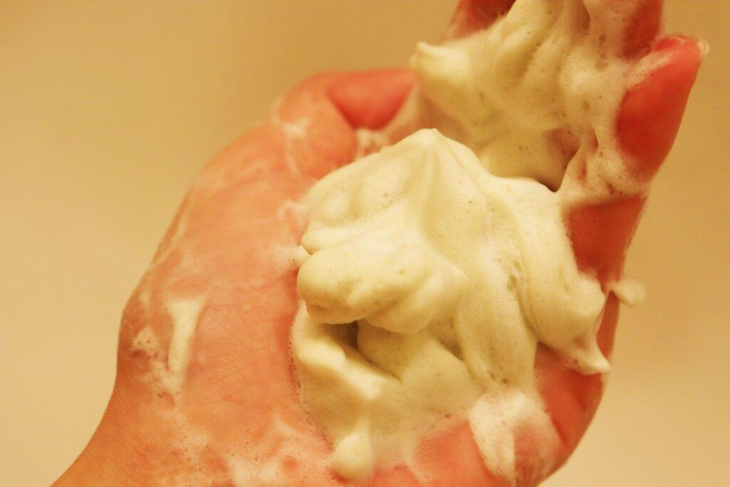 ワフードメイド宇治抹茶酵素洗顔パウダー 泡立ち